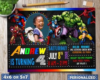 Avengers invitation Etsy
