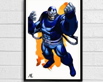 Apocalypse Xmen Comic Book En Sabah Nur Marvel Illustration, Film, Movie, Pop Art, Superhero Poster, Comic Book Print Canvas