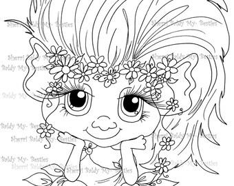 INSTANT DOWNLOAD Digital Digi Stamps Big Eye Big Head Dolls NEW Bestie Twinkle Toes Troll Scan0059 My Besties  By Sherri Baldy