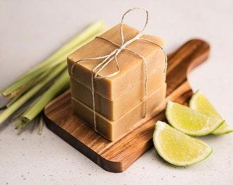 Soap Handmade - Lemongrass, Lime & Myrtle
