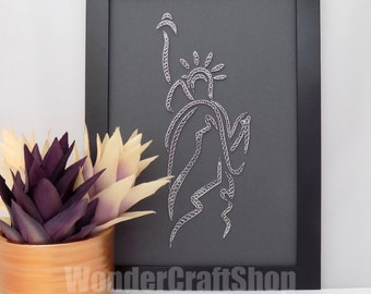 statue of liberty home decor, paper sculpture, framed art, paper wall art, liberty, new york, nyc, USA, wall decor, home decor, quilled art
