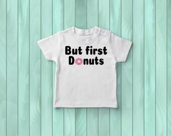 But First Donuts Tee, Kids Tee Shirt, Girls Top