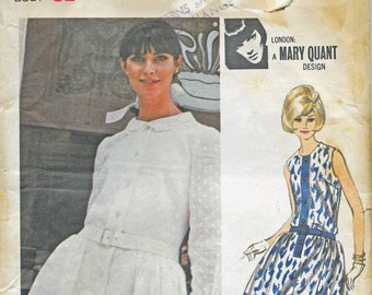 1965 London Designer Mary Quant Misses One-Piece Dress