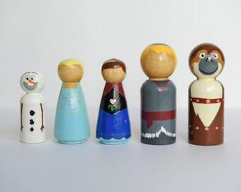 Frozen Peg Doll Set- 5 pieces