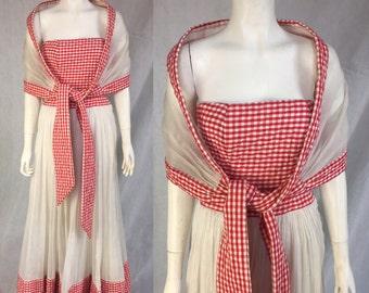 1940s 1950s Ceil Chapman gown