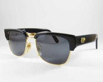 Vintage Sunglasses, Tropical Club, Sunglasses for Men, Clubmaster, Black Sunglasses, Boyfriend Gift, Wayfarer Sunglasses, Mens Sunglasses,