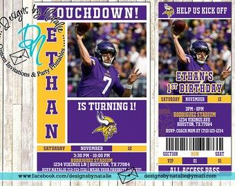 Minnesota Vikings Football Invitation