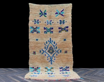 Moroccan rug, vintage berber rug, boucherouite rug, beni ouarain, beni rug, Azilal rug, beni ourain rug, kilim rug, tapis berbere, small rug