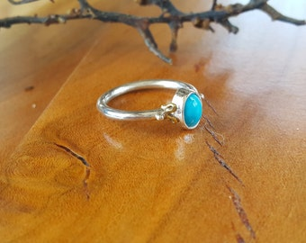 Turquoise Ring - Natural Gemstone and Silver