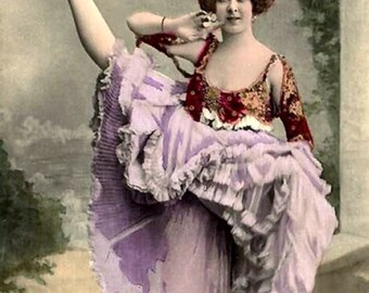 Lesbian Vintage Photo CanCan Dancer Birthday Card   *****VFBD1001