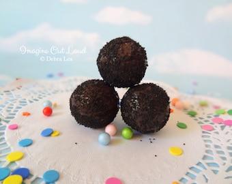 FAUX Fake Truffles Dark Chocolate Mocha Espresso Crumb