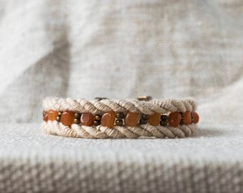 SALE - Rope and Agate Bracelet