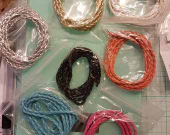 Braided Faux Leather Cords DIY Necklace Bracelet Strings Crafts
