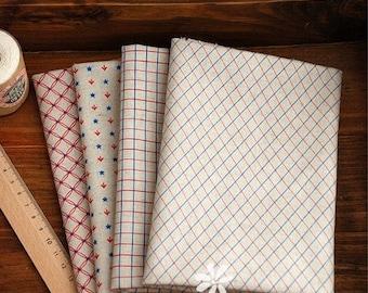 Cotton Linen Fabric Cloth -DIY Cloth Art Manual Cloth -Four Geometric Positioning 57x19 Inches