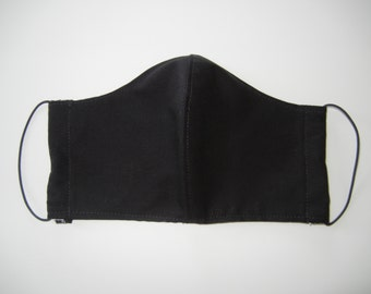 Fabric Surgical Face Mask in Solid Black