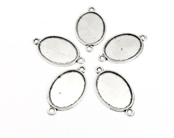 5 tray base for cabochon setting,  fits  18mm x 25mm cabochon #FIN  027