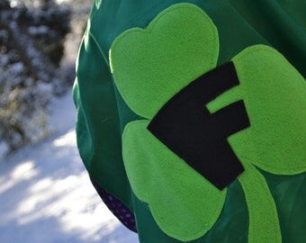 Superhero Cape Shamrock  Irish Kids Capes St Patricks