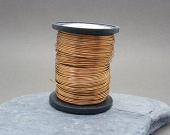 Bronze wire ~ 0.7mm  bare bronze wire ~ Bronze jewellery wire ~ 21g solid bronze wire ~ Jewellery supplies ~ Wire wrapping ~ Jewelry wire ~