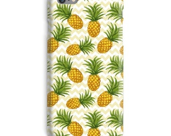 Ananas iPhonegeval, gele iPhonegeval, groene iPhonegeval 6, Chevron iPhonegeval 6, ananas iphone 6s case, vruchten iPhonegeval