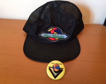 VINTAGE Max Webster Hat and Pin