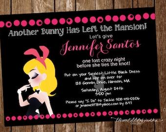 Playboy Bunny Bachelorette Party Invitation