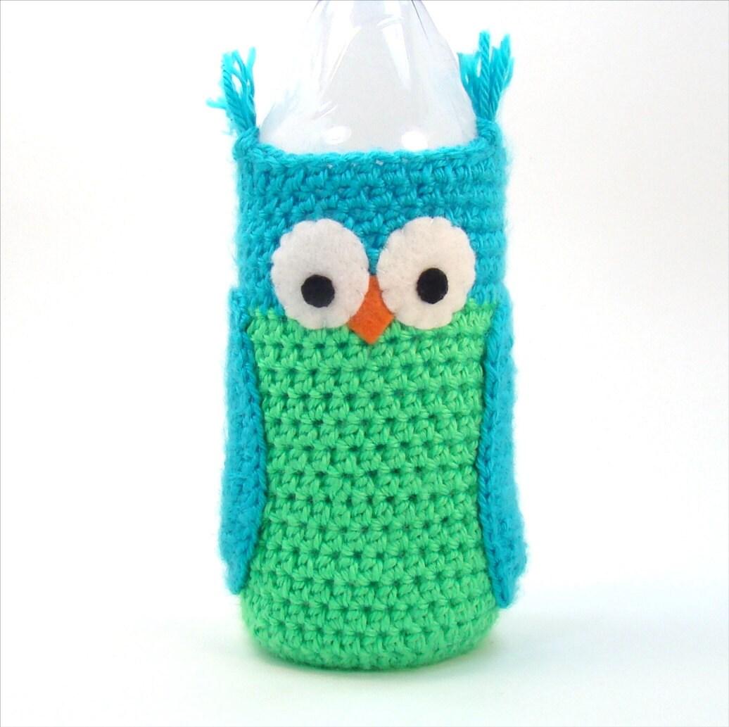 Water Bottle Sleeve Owl Crochet Pattern Crochet Water Cozy