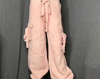 RALPH LAUREN Silk Ruched Tie Pants Size: 2