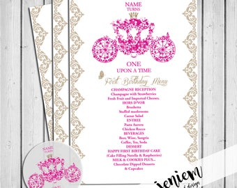 "Cinderella Princess Party ""One Upon A Time"" Menu"
