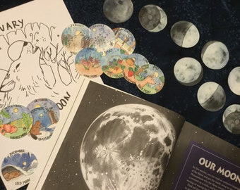 Full Moon and Phases set