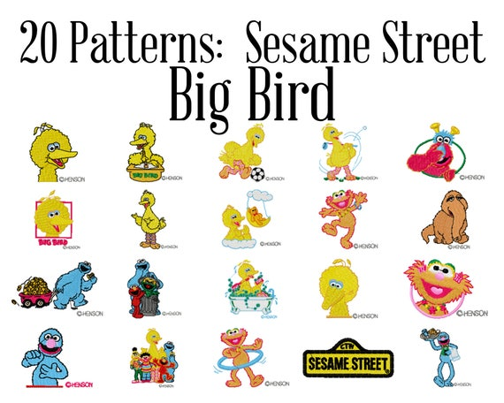 Sesame Street Big Bird Machine Embroidery Patterns Big Bird