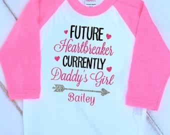 Monogram Valentine Shirt-Girls Monogram Valentine's Day Shirt-Valentine Shirt for Kids-Baby Toddler Valentine-Daddy's Girl Shirt-Valentine's