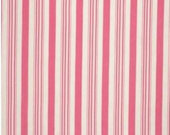 Pink Stripes - Barefoot Roses Leg - Tanya Whelan - Free Spirit Fabric