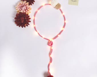Bright balloon custom knitting and pom poms / balloon night light
