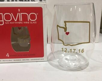 1 Monogrammed Govino cup Dishwasher Safe
