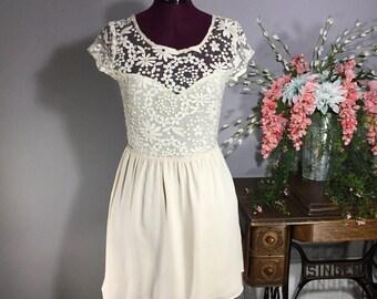 Vintage 1990s Lace Top Dress