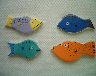 FF19 -FANTASTIC Little FISH - Ceramic Mosaic Tiles