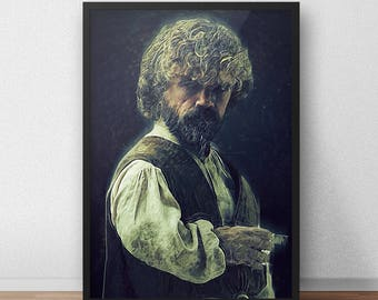 Tyrion Lannister - Tyrion poster - Game of Thrones - Game of Thrones gift - Game of Thrones poster - Movie poster - Movie prints - Stark