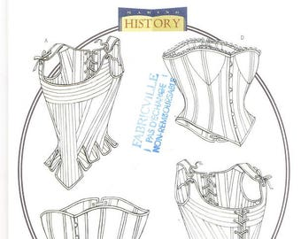 Butterick 4254 Misses' Stays and Corset Sewing Pattern, 6-10