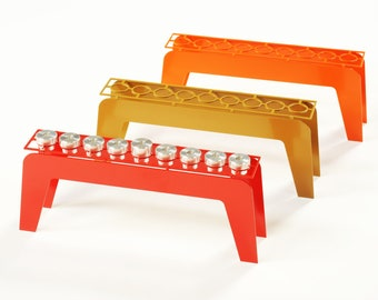 Fine Hanukkah Menorah - Orange