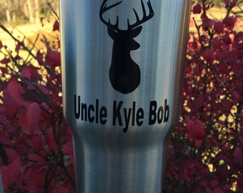 Buck decal with name, tumbler decal custom decal, deer decal, window decal, car decal