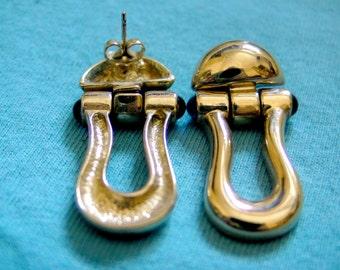 Harp earrings vintage 80s