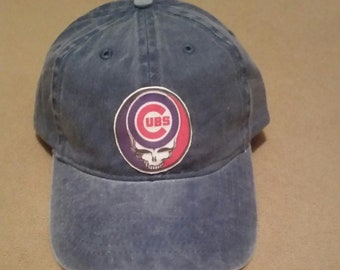 Grateful Dead Steal Your Face Chicago Cubs Hat, new, unisex one size adjustable all sales final
