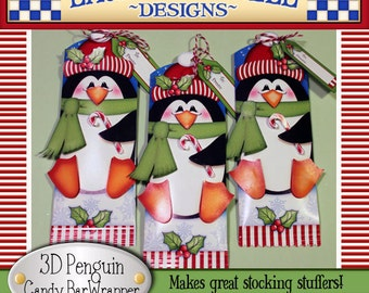 Penguin Candy Bar Wrapper, penguin candy wrapper, Christmas candy bar wrapper, Christmas printables, Laurie Furnell, holiday candy wrappers
