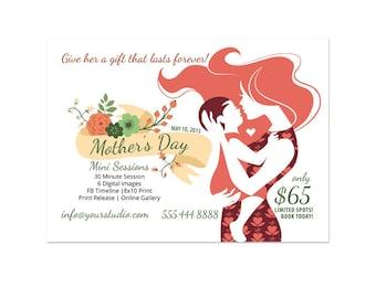 Mother's Day Mini Session Marketing Board Photoshop Template 004