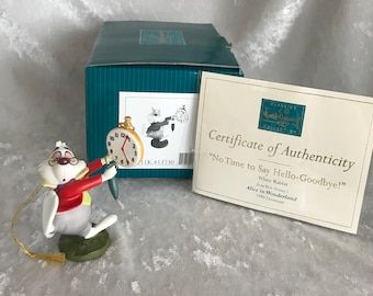 "WDCC ""No Time to Say Hello-Goodbye"" White Rabbit from Disney's Alice in Wonderland with Original Box and certificate of Authenticity"