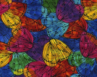 Timeless Treasures Multi Packed Butterfly Wings Fabric - 1 yard