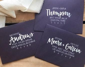 Envelope etsy envelope addressing wedding special event hand lettered brush calligraphy modern calligraphy reheart Choice Image