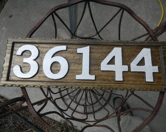 House Numbers, Address, Street, Signs, Custom Designed and Carved, Weather Resistant, Re-claimed Cedar, Rustic, Decorative, Various Woods.