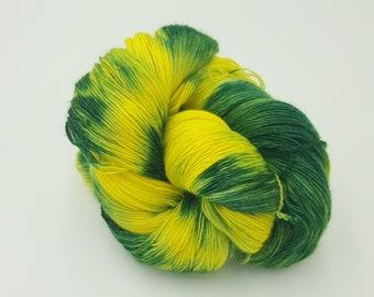 Hand Dyed Laceweight Falkland Merino Single - Daffodil