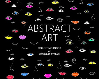 Abstract Art coloring book